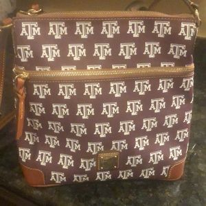Dooney and Bourke Texas A&M Shoulder Strap Purse